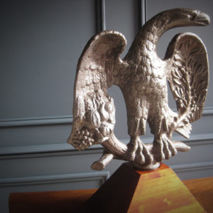 Cast iron American printing press eagle