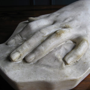 hand made of plaster