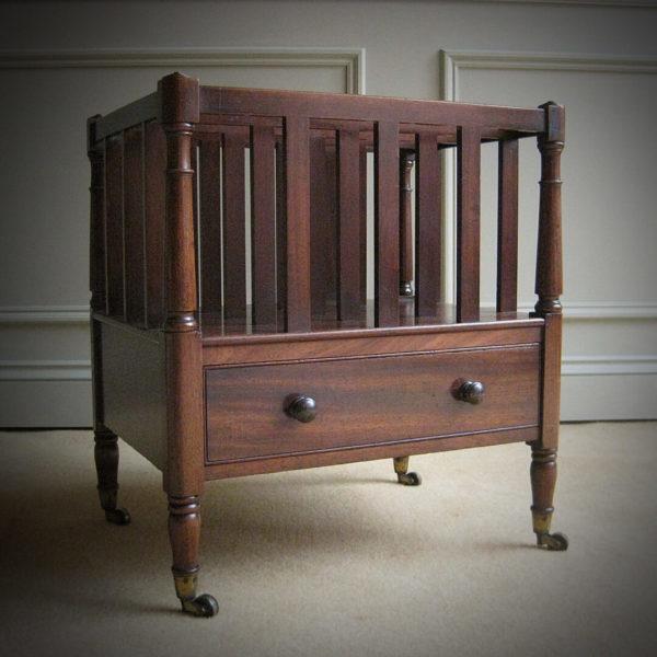 antique mahogany magazine rack