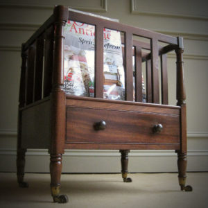 antique mahogany magazine rack