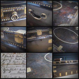 dark antique trunk