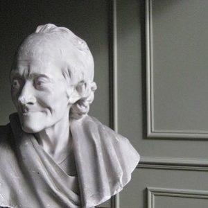 antique Voltaire plaster bust