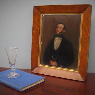 Naive Victorian portrait