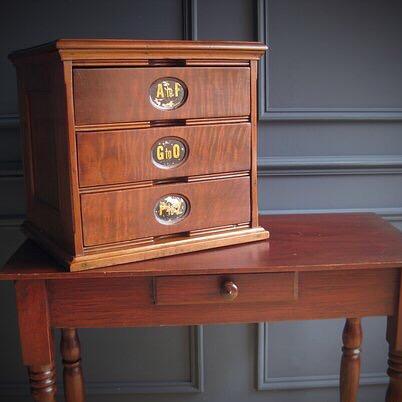 Ambergs USA walnut filing cabinet