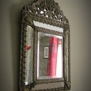 antique cushion mirror