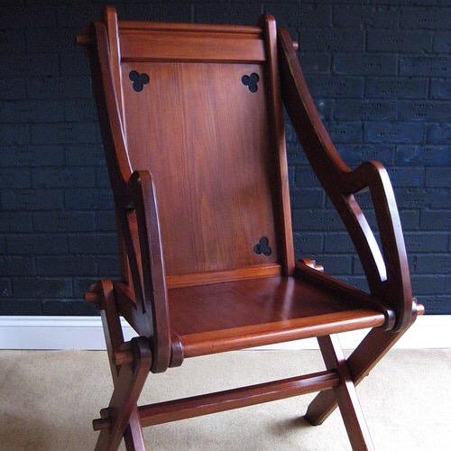 Pitch pine Glastonbury chair