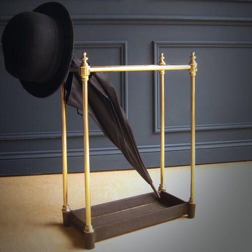 Cast iron and brass stick stand