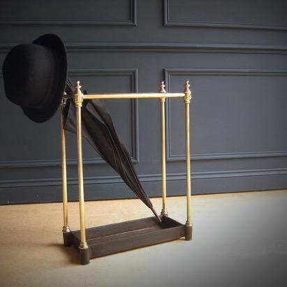 Brass cast iron stick stand