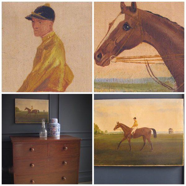 antique racehorse painting