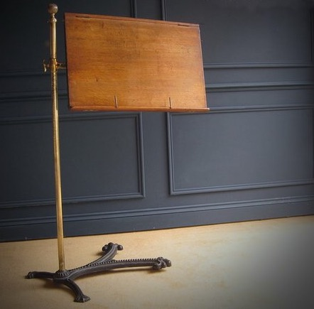 cast iron reading stand
