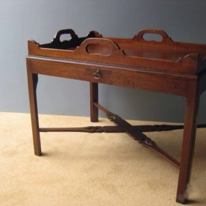 Chippendale tray top table