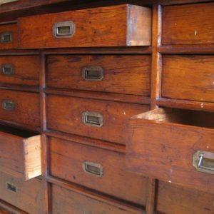 Haberdsashery drawers