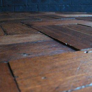 Wood block table