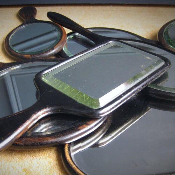 eebony antique hand mirrors