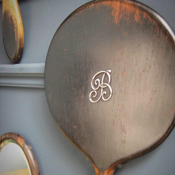 antique ebony mirror