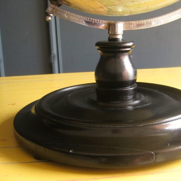 ebonised globe stand