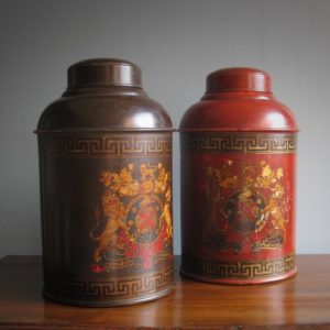Toleware tea canister
