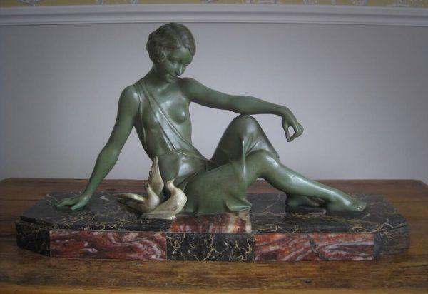 Art Deco spelter sculpture