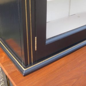 Ebonised walnut bookcase