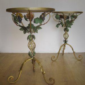 Italian toleware tables