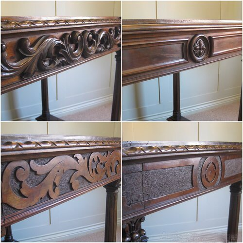 Carved antique table