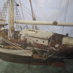 antique ship model