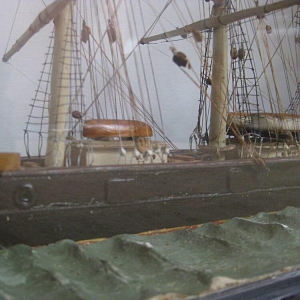 antique model boat