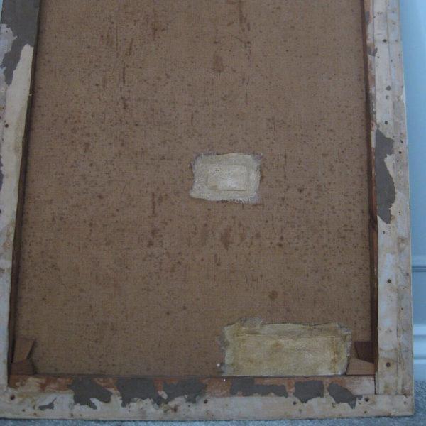 repairs to damaged painting