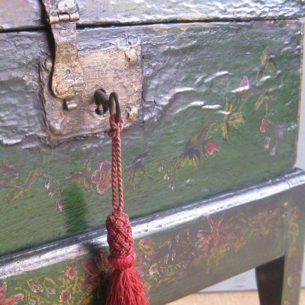 antique trunk lock