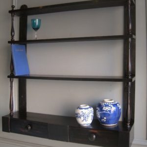 Victorian hanging wall shelves