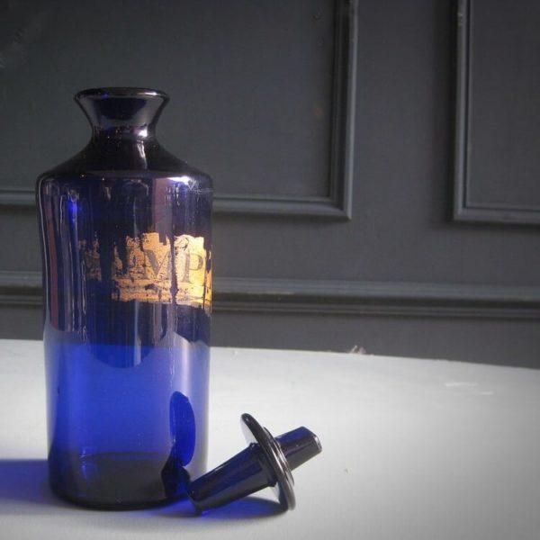 antique blue glass