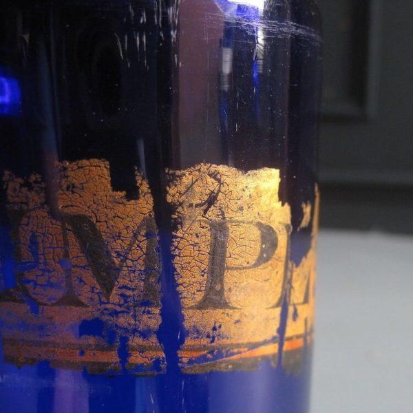 Blue apothecary jar