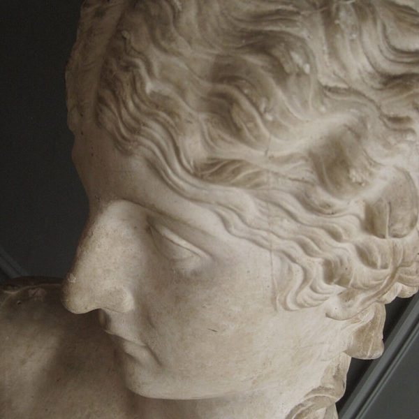 classical plaster bust