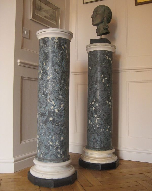 antique blue marble columns