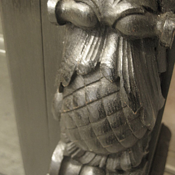 American ebonised carved oak furniture