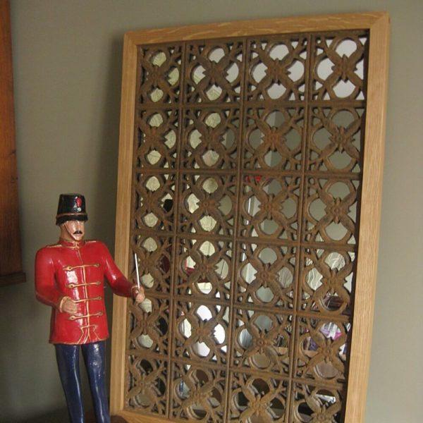 Bespoke cast iron mirror