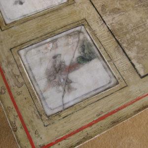 Oriental tile top table