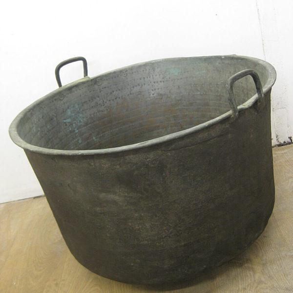 antique copper log basket