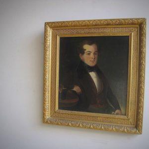 Victorian gentleman oil portrait