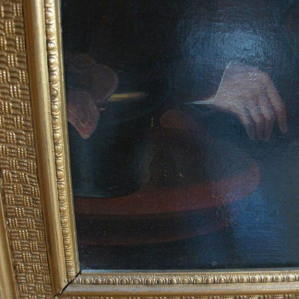 antique oil portrait gentleman