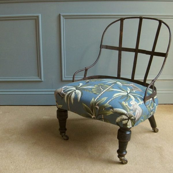 Deconstructed iron frame chair