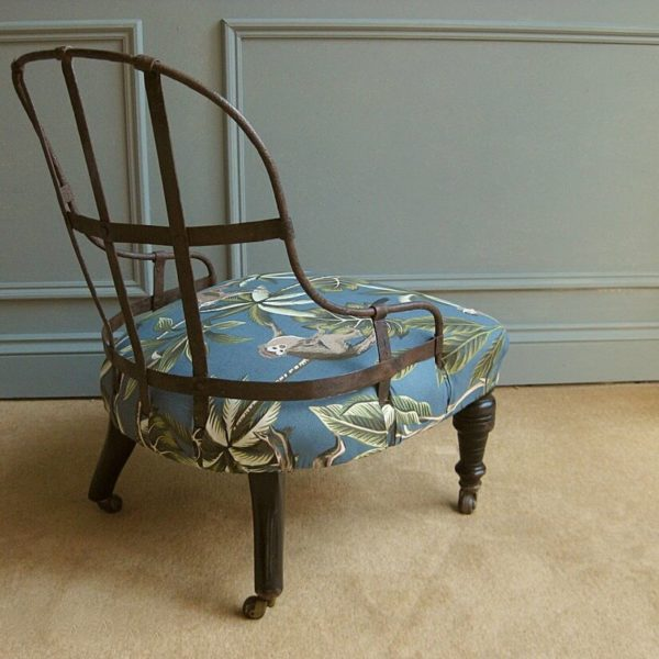 Iron frame Victorian chair