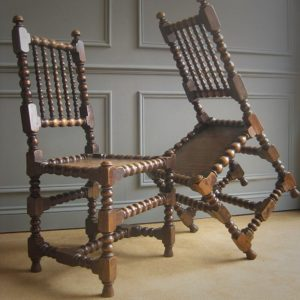 bobbin turned dining chairs