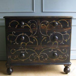 American folk art style drawers