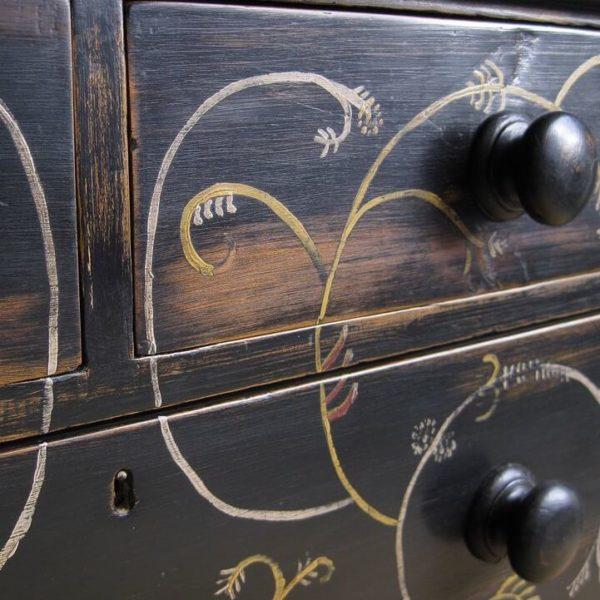 Folk art antique furniture