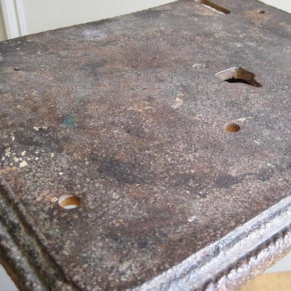 antique iron table